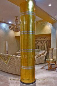 Gold Leafing on Pillar
