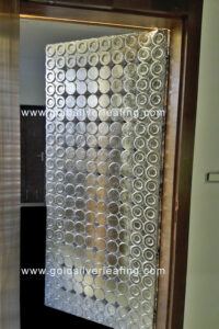 Silver Leafing on Carved Door