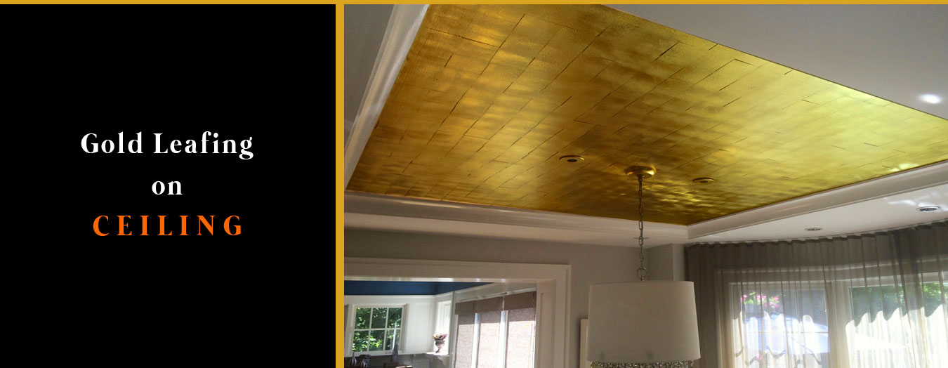 Gold Leafing on Ceiling