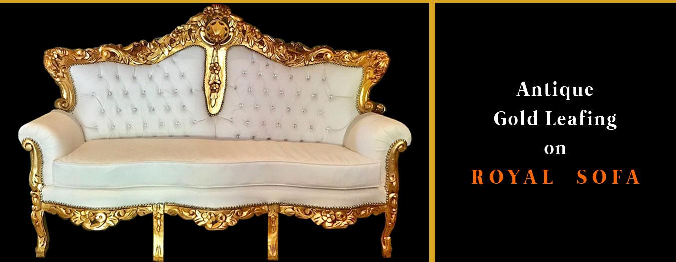 Gold Leafing on Sofa