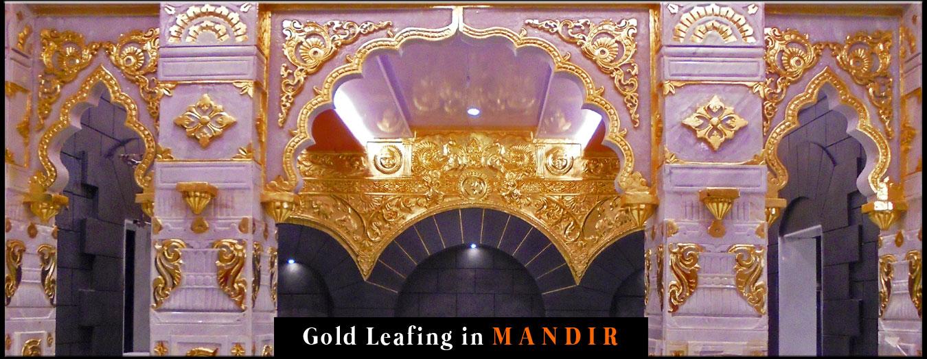 Mandir Gold Leafing