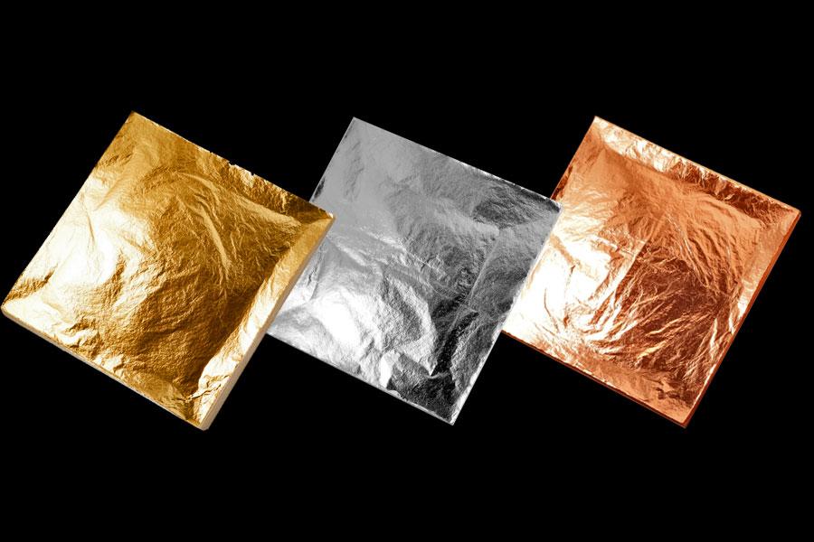 Imitation Gold Silver Leaf