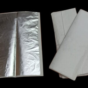 Large 100% Pure and Edible Silver Leaf for Sweets Decoration, Cake Decoration, Temple Use, Aruyvedic Medicines, Dry fruits, Flavored Supari, Paan, Art & Craft.