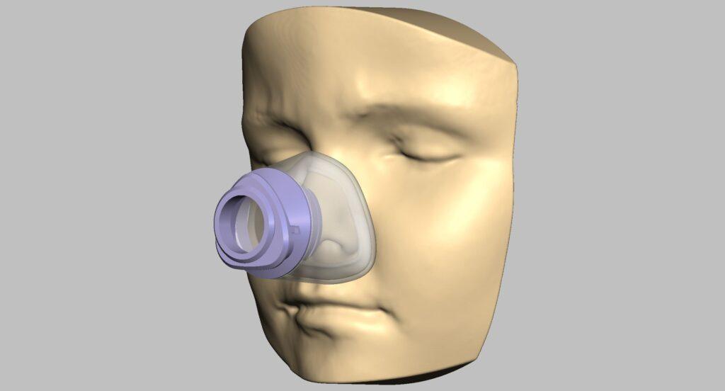 3D printing assisted NIV mask