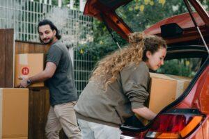 Putting Box in Car