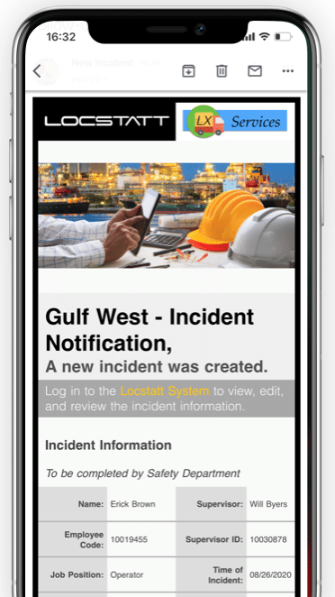 Incidents Email Notifications