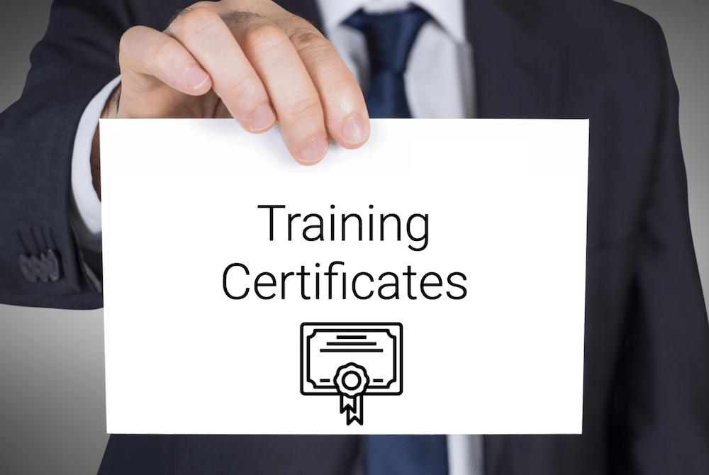 Training Certificates in Locstatt