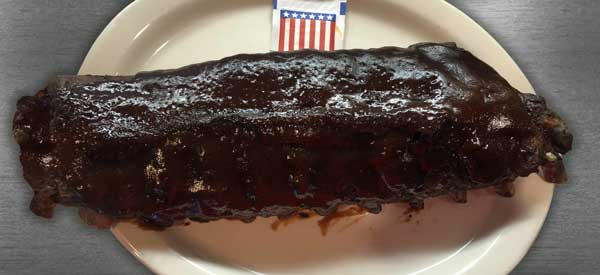full rack of BBQ ribs