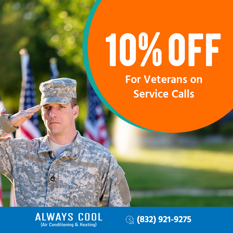 10% Off For Veterans On Service Call