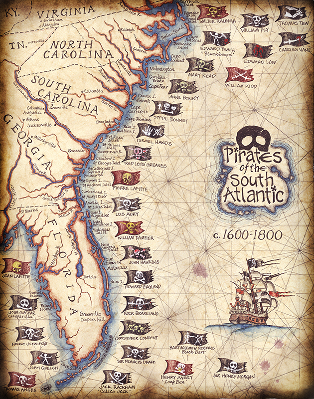 Pirate Map of the South Atlantic