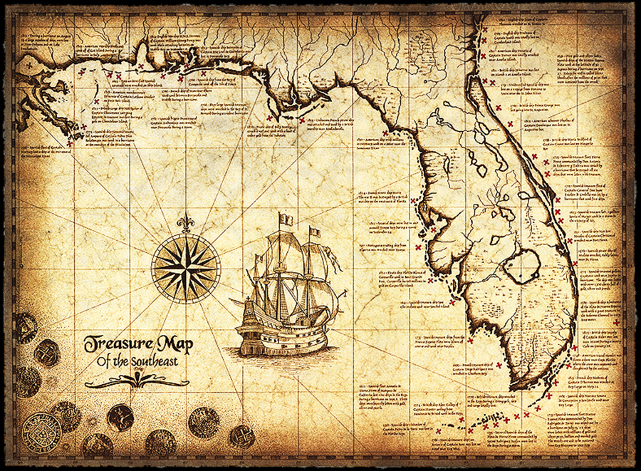 Ancient treasure map of the Southeast