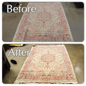 Rug Cleaning Before and After