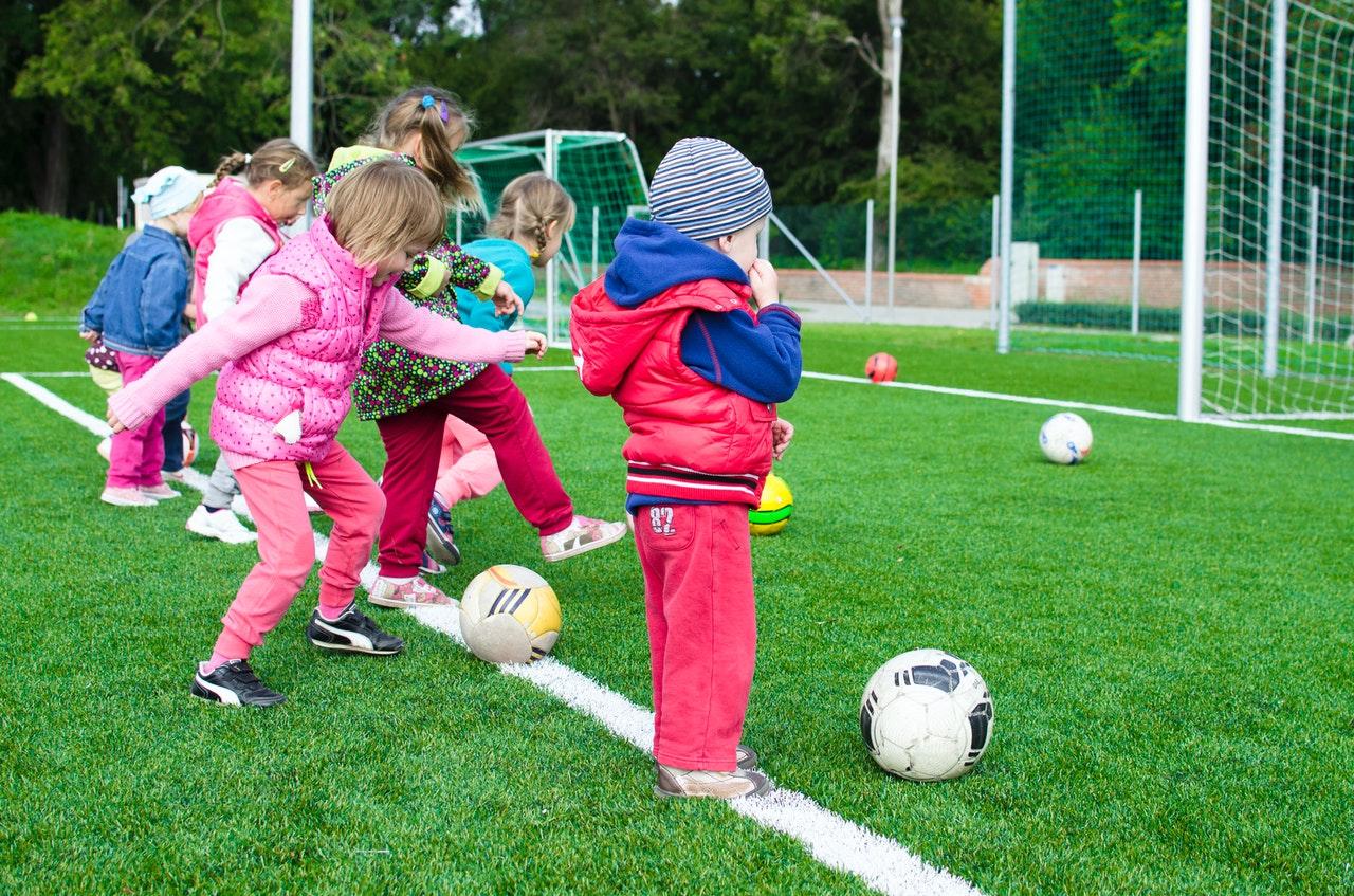 Children playing sports.