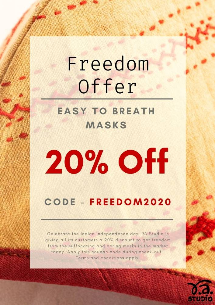 Easy to breath designer RA Studio cotton mask freedom offer