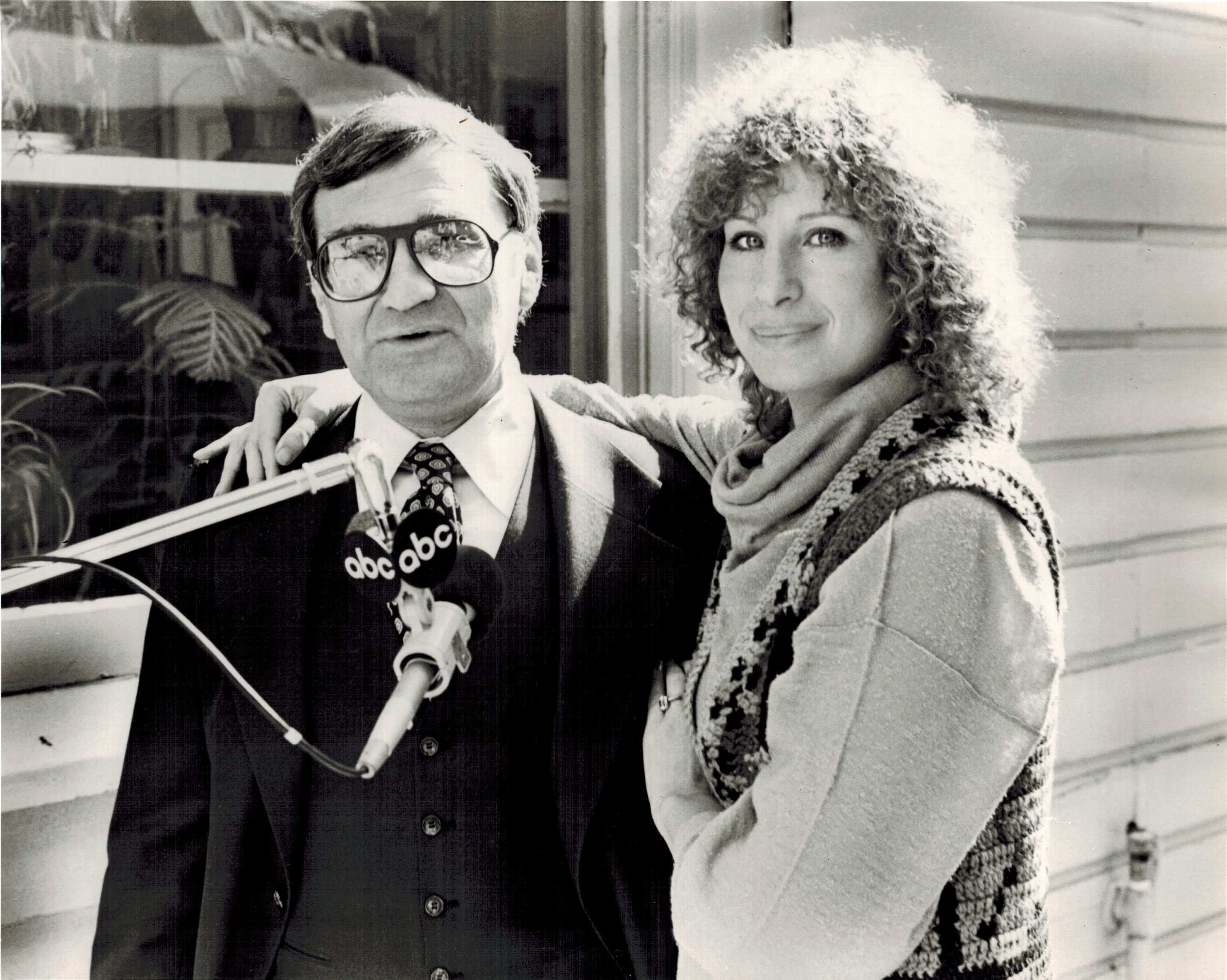 Rick Sklar interviews superstar (and fellow Brooklynite) Barbra Streisand for an ABC Radio Network program in 1979.