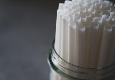 PLA BIOPLASTIC White Drinking Straws