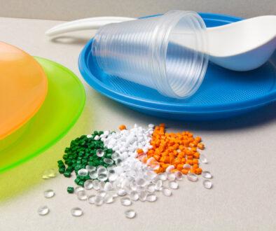 BIO Polyethylene granules and disposable tableware made of polyethyl