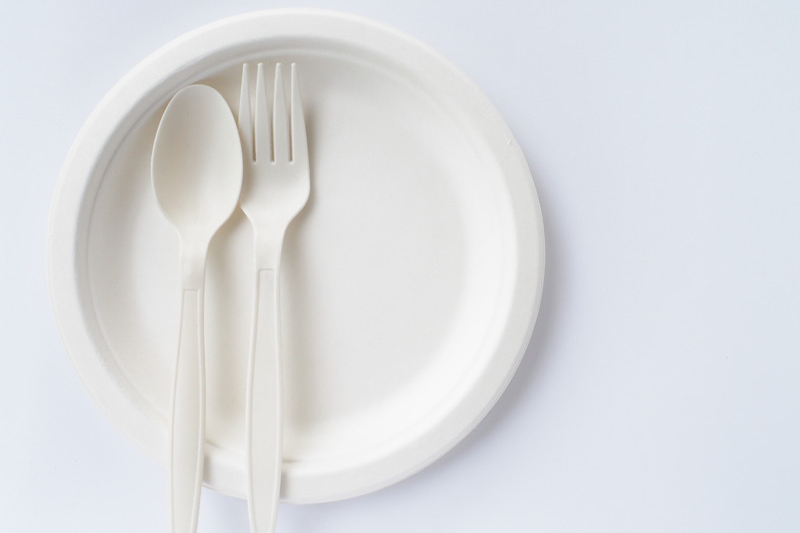 Biodegradable PLA + plant based Cutlery