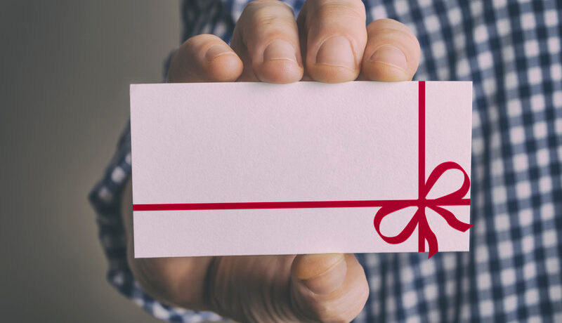biodegradable gift card