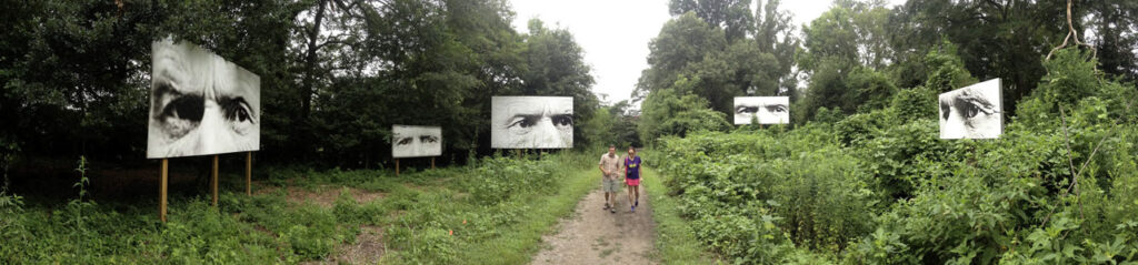 Apparations: Look Away with couple walking