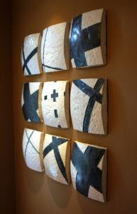 Series X ceramic tablets by Gregor Turk