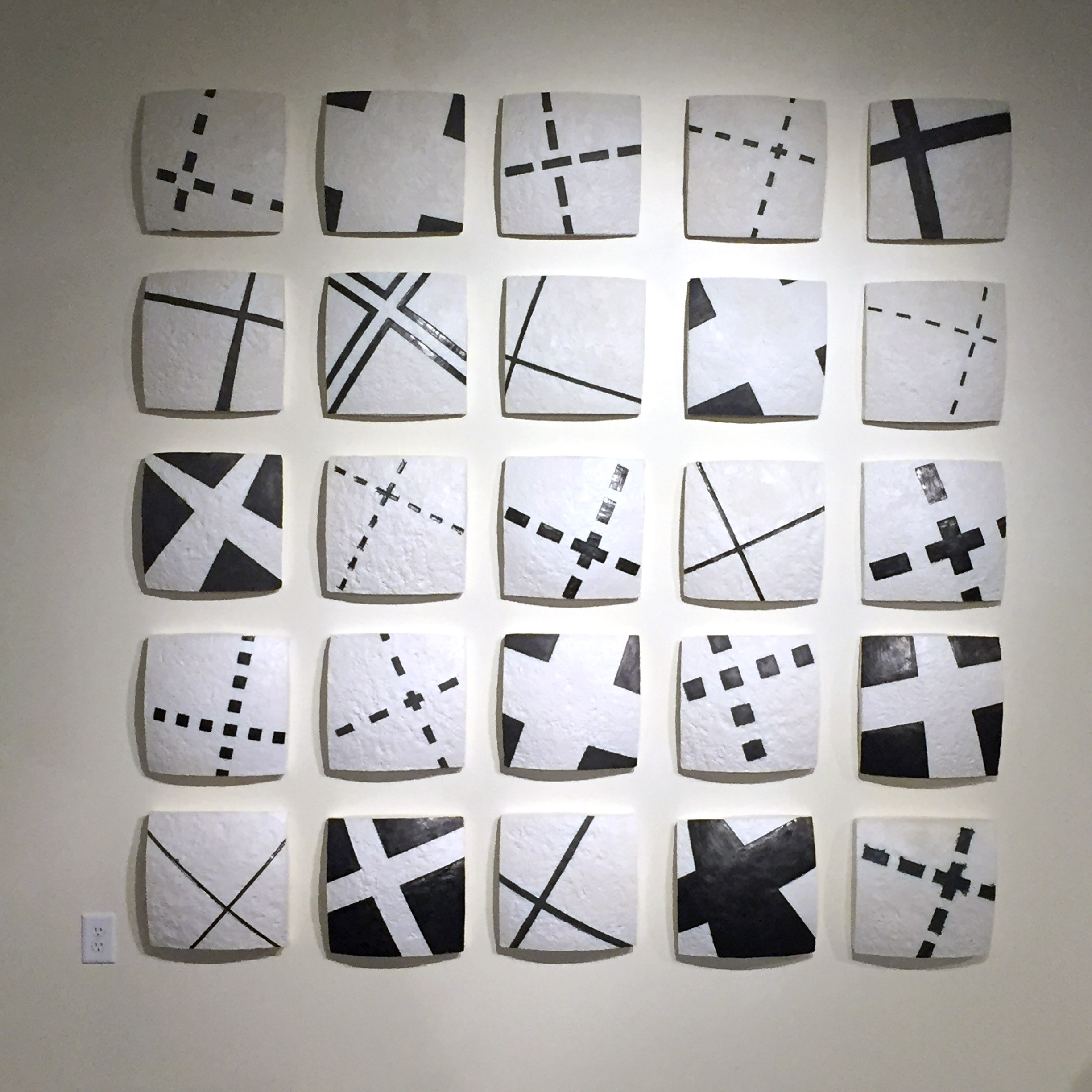 Group of 25 series X ceramic tablets by Gregor Turk
