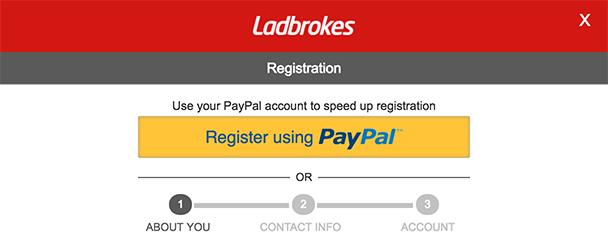 Ladbrokes Registration Steps
