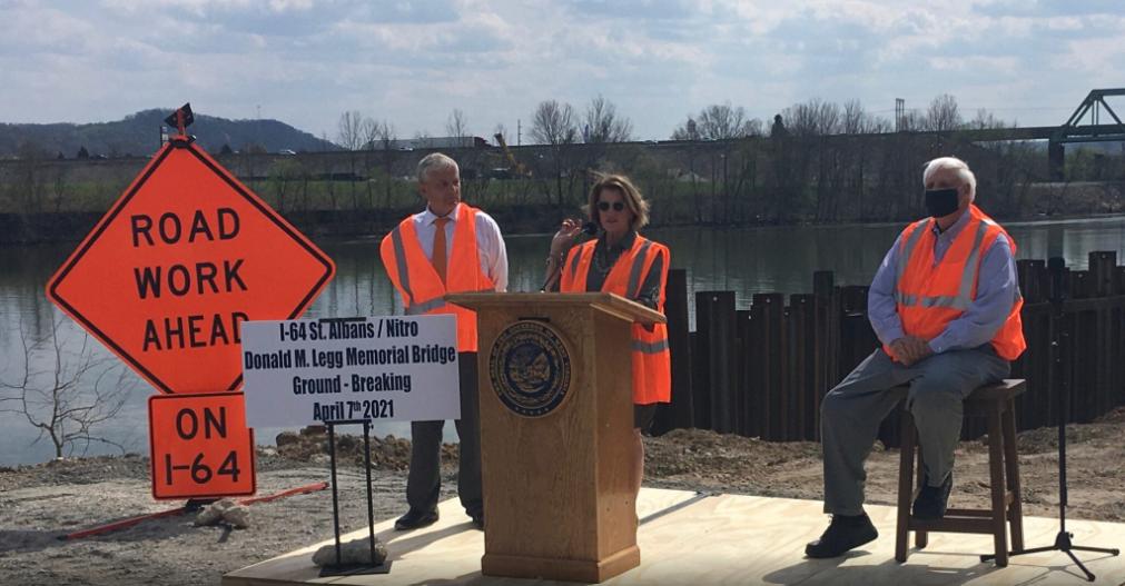 U.S. Senator Shelley Moore Capito speaks during the groundbreaking ceremony on Wednesday.