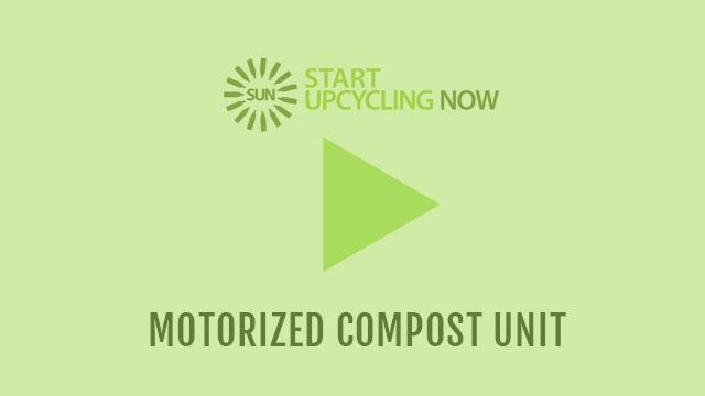 Motorized compost unit