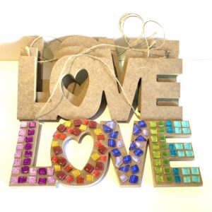 Love Mosaic Plaque