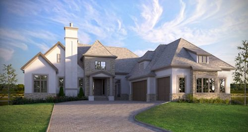 Cranston Riverview French Normandy custom luxury home