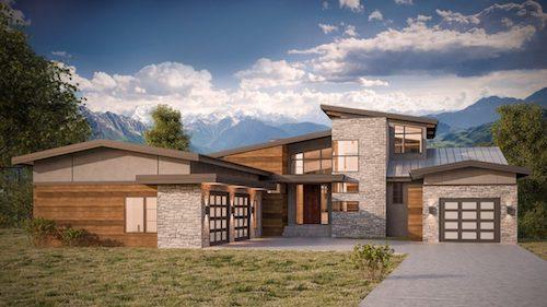 Cranston Riverview Contemporary custom home