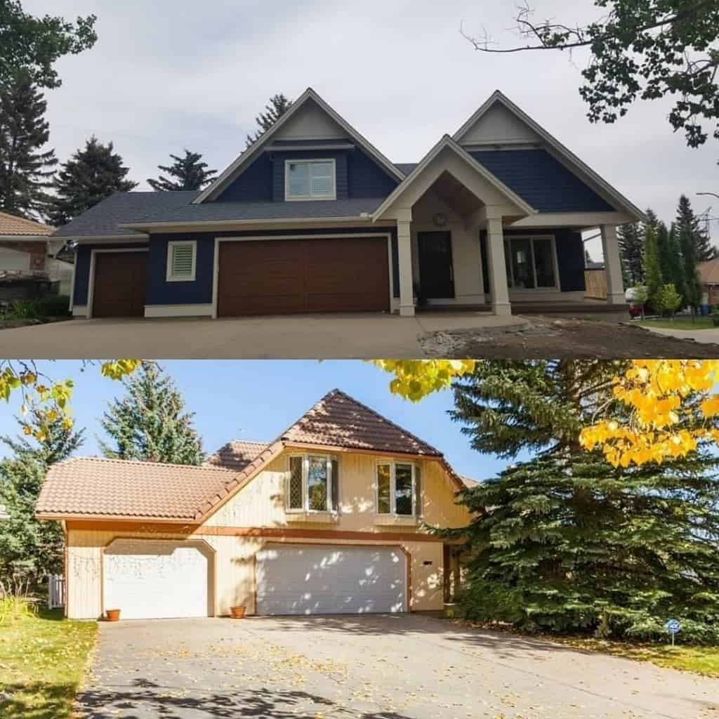 Coach Manor Estates exterior before and after custom residential architecture
