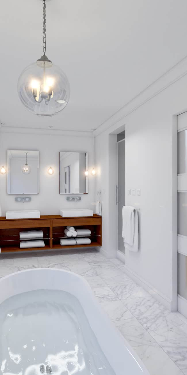 West Hillhurst Rowhouse dream home ensuite