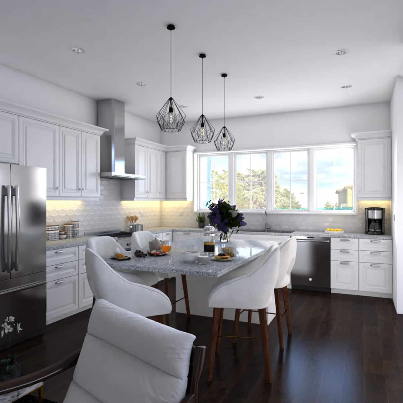 West Hillhurst Rowhouse luxury custom kitchen