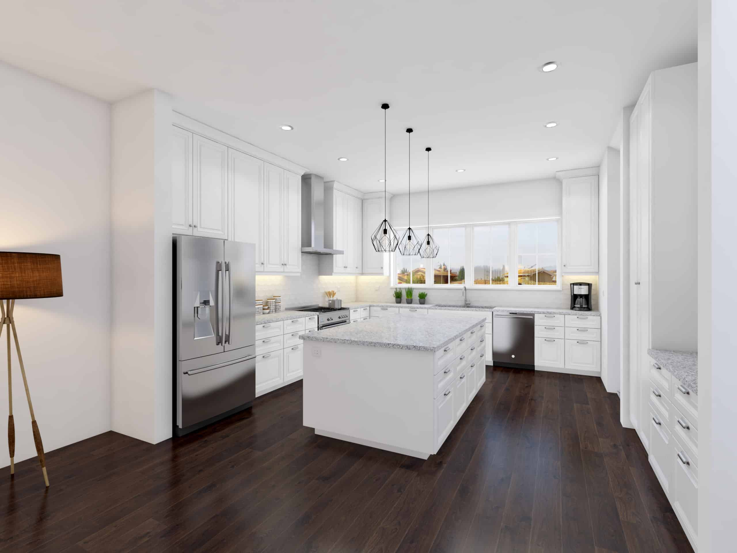 West Hillhurst Rowhouse luxury kitchen