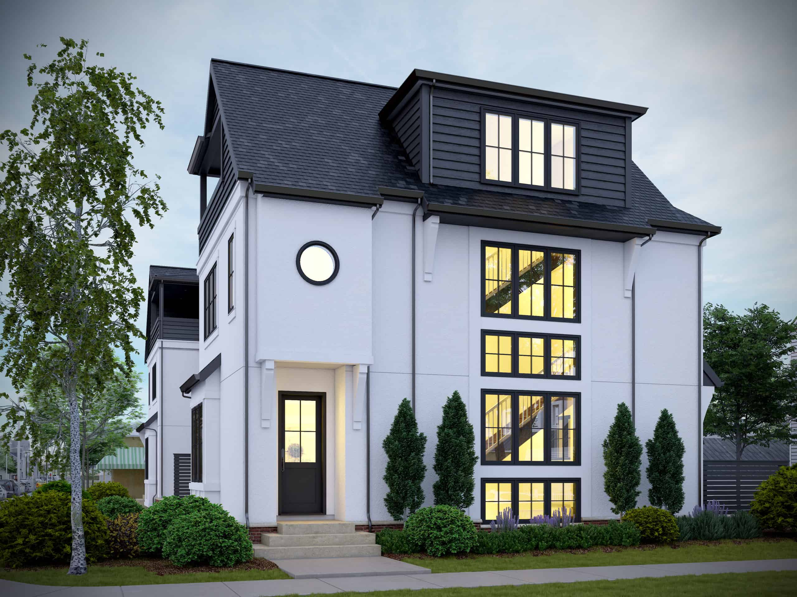 West Hillhurst Rowhouse rendering custom home