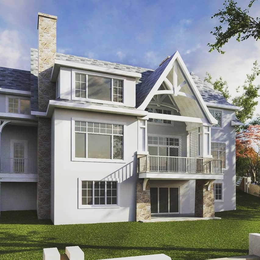 Spring Valley French Country rear custom design