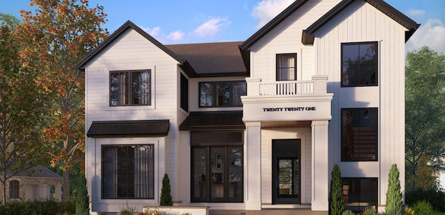North Glenmore Park Transitional custom residential design featured