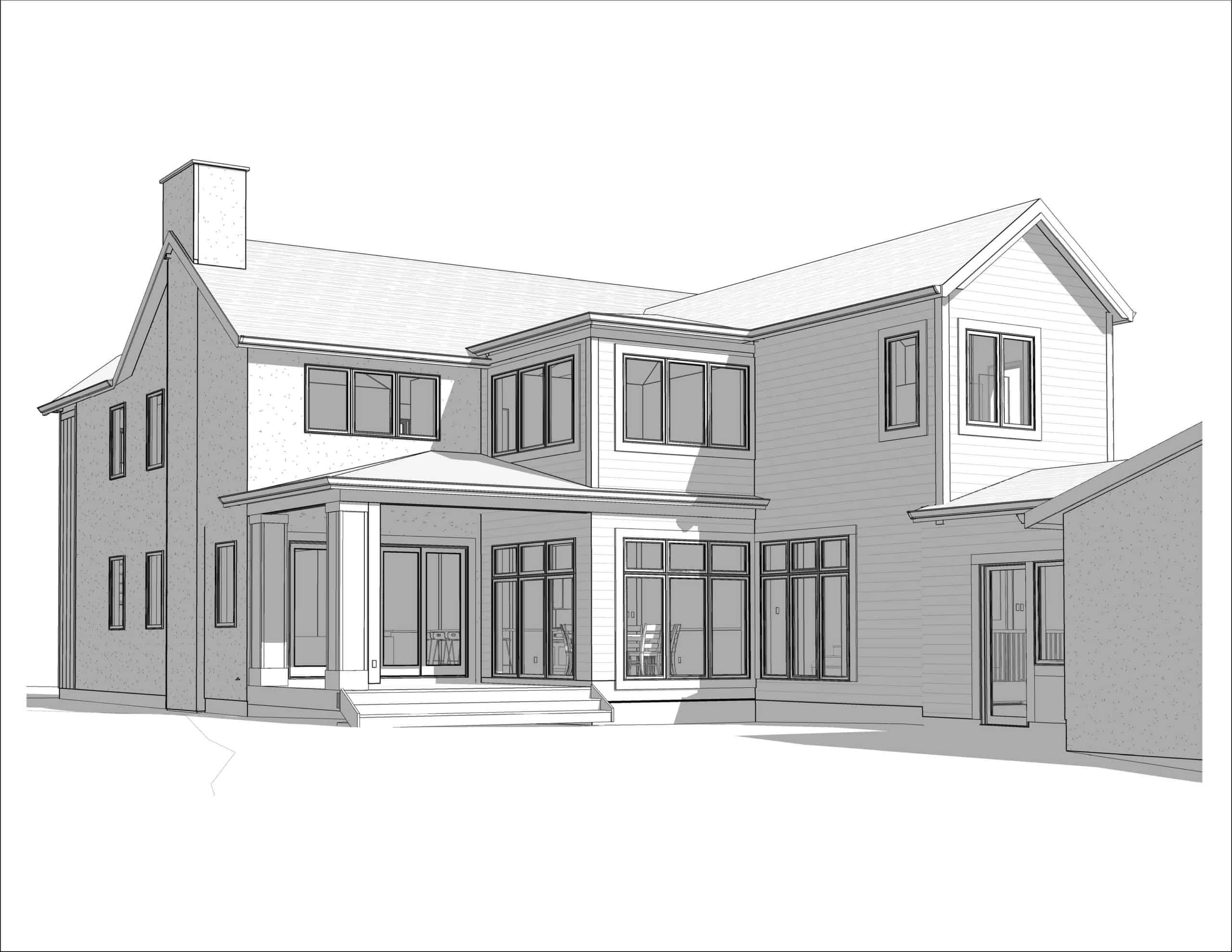North Glenmore Park Transitional rear architecture