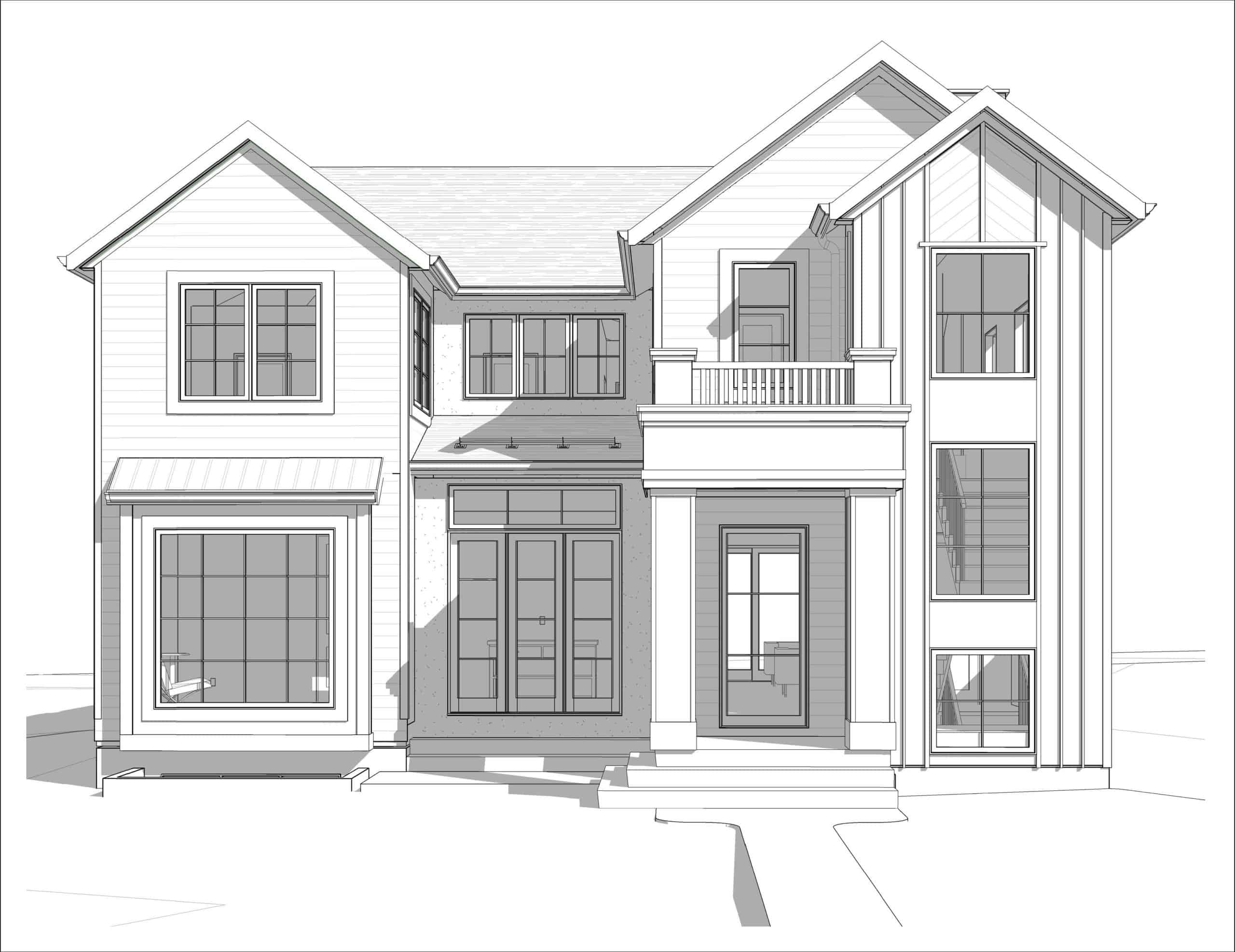 North Glenmore Park Transitional custom home design