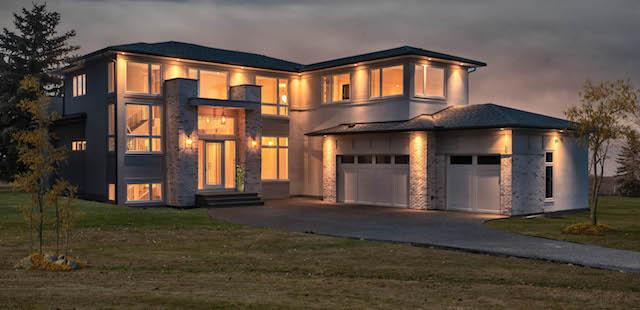 Springbank Hill Modern Prairie luxury custom home build featured
