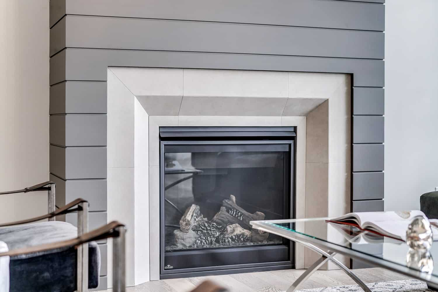 Watermark at Bearspaw fireplace architectural design