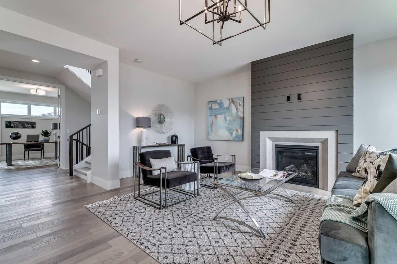 Watermark at Bearspaw custom living room design