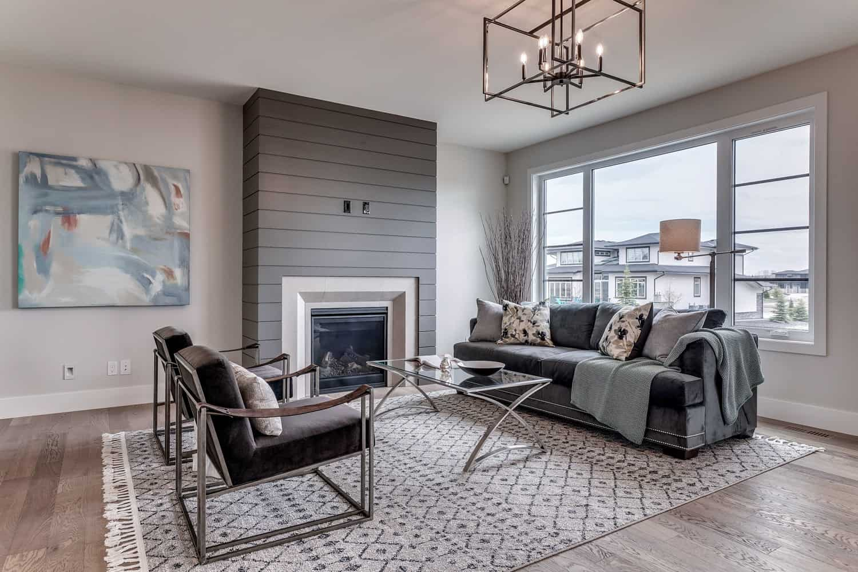 Watermark at Bearspaw living room residential design