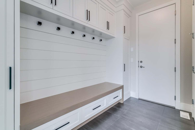 Watermark at Bearspaw mudroom luxury custom home