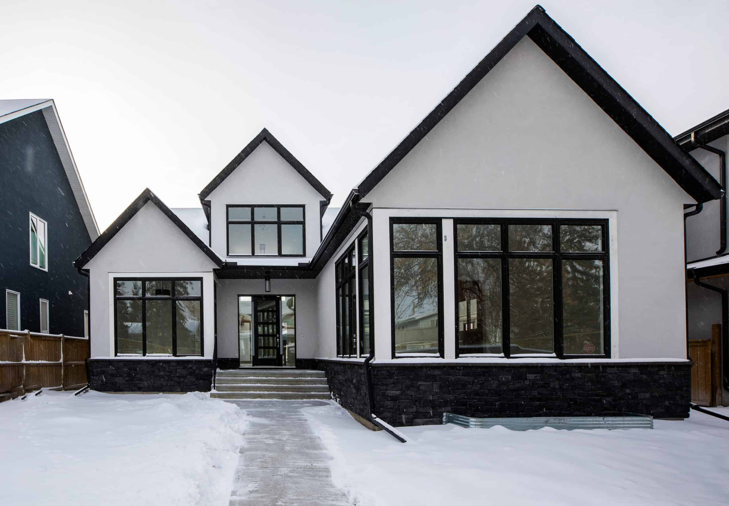 North Glenmore Park Modern Bungalow custom residential home