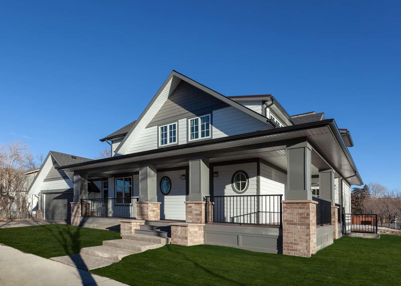 Exterior Memorial Craftsman custom Calgary Alberta home