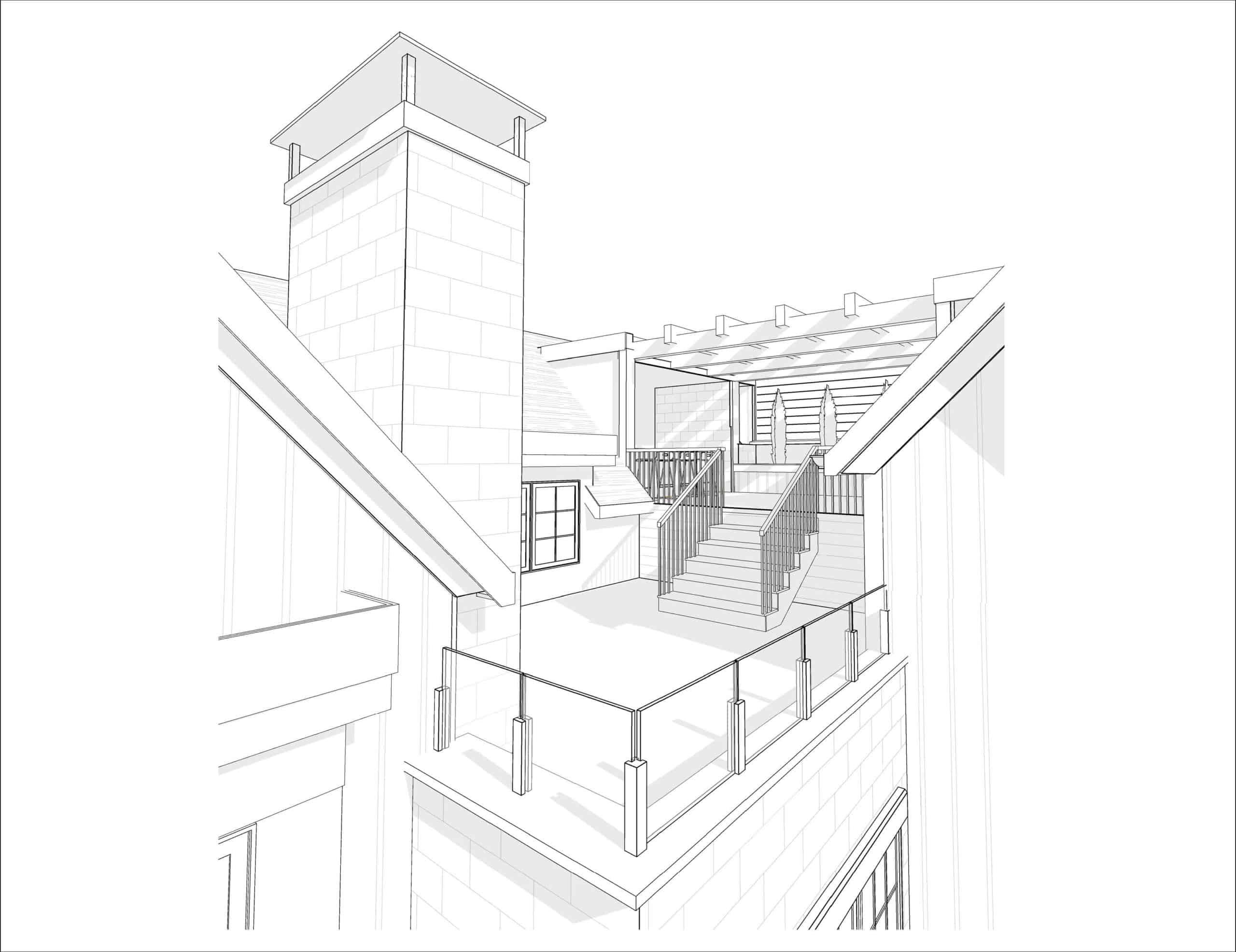 Mount Royal Modern Farmhouse rooftop patio