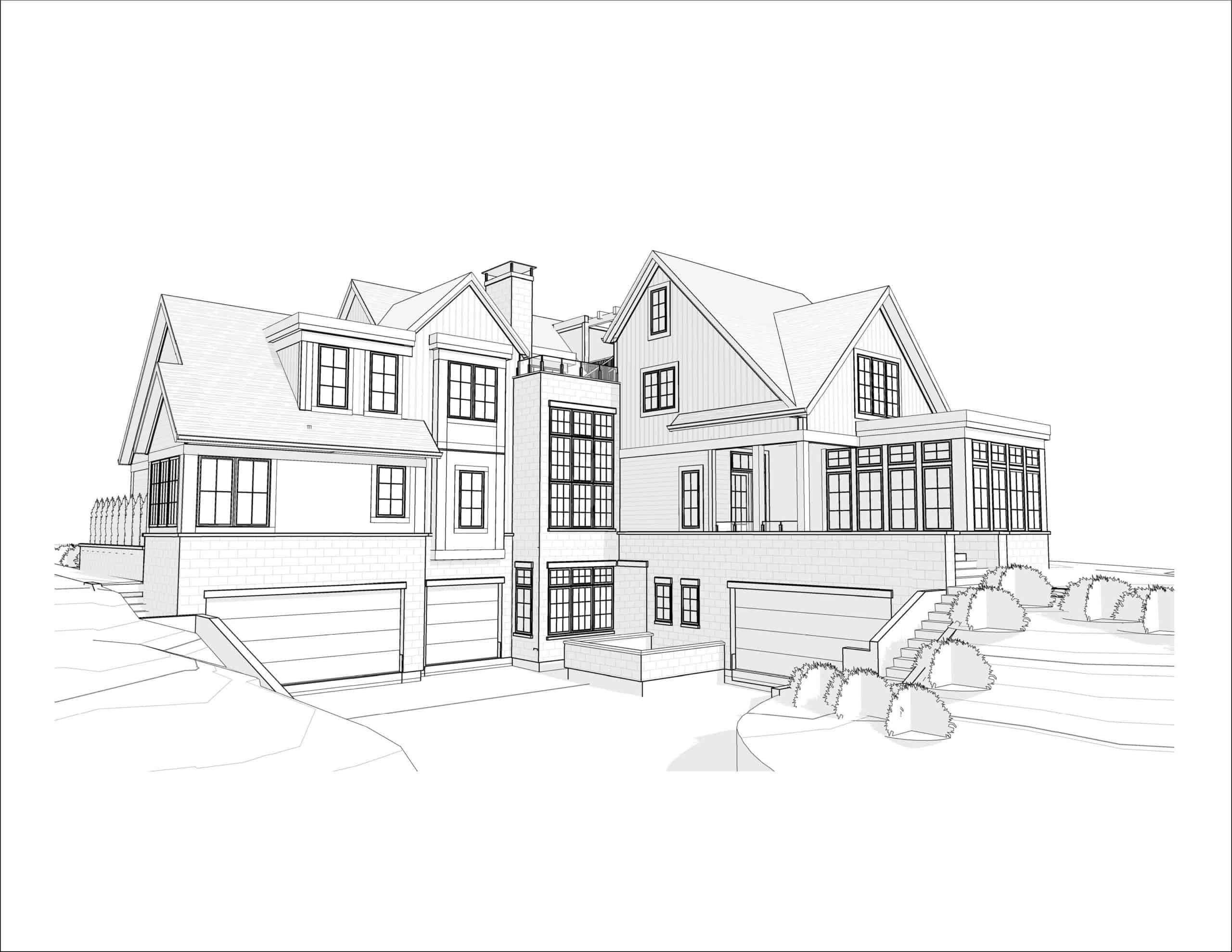 Mount Royal Modern Farmhouse drawing
